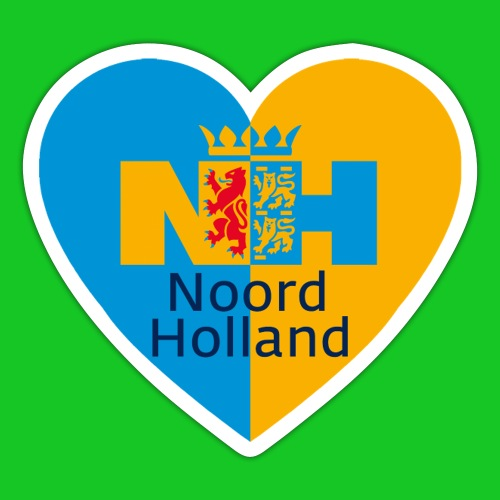 Noord Holland hart - Sticker