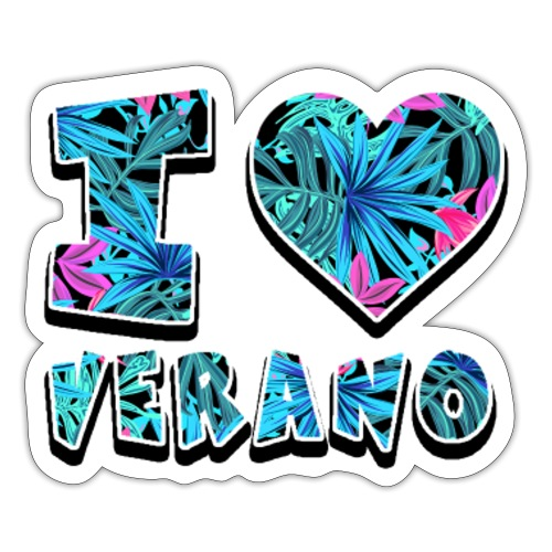I Love Verano - Pegatina