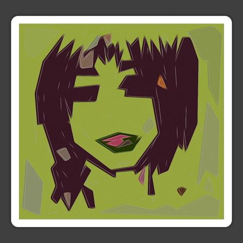Green brown girl - Sticker