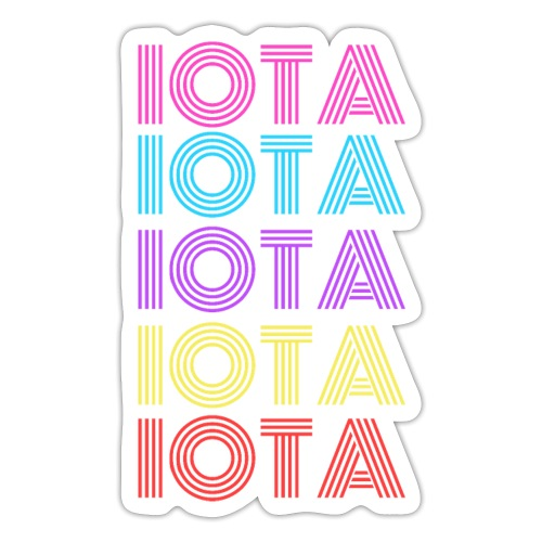 IOTA RETRO - 80s Kryptowährung - Sticker