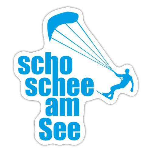 scho schee am See Surfer 01 kite surfer - Sticker