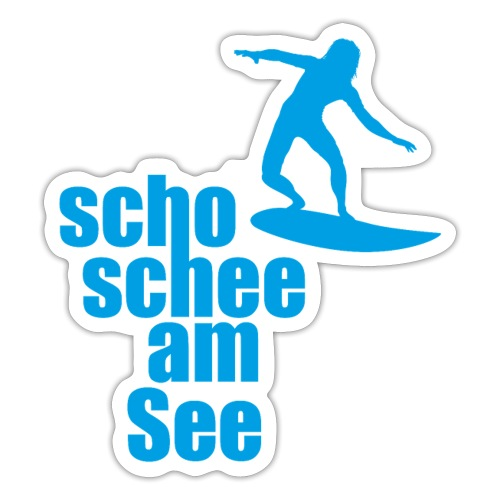 scho schee am See Surfer 04 - Sticker