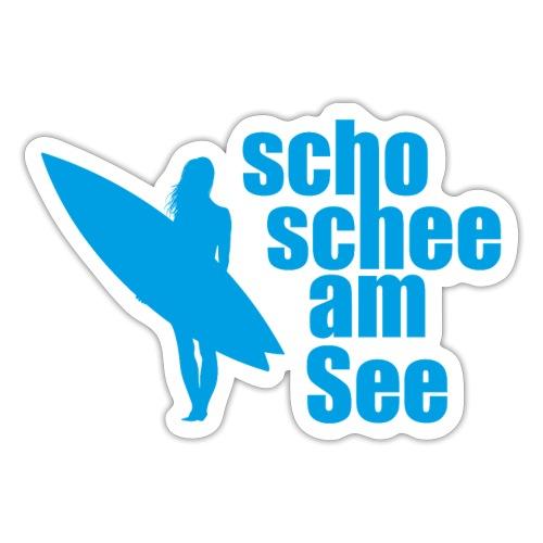 scho schee am See Surferin 03 - Sticker