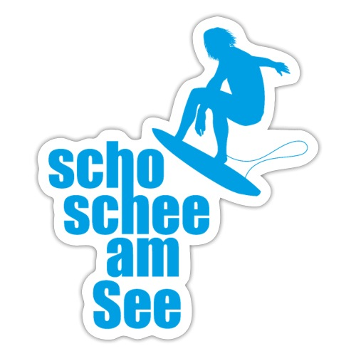 scho schee am See Surfer 01 - Sticker