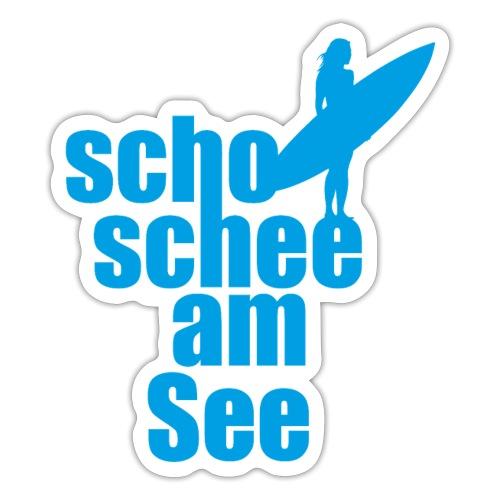 scho schee am See Surferin 02 - Sticker