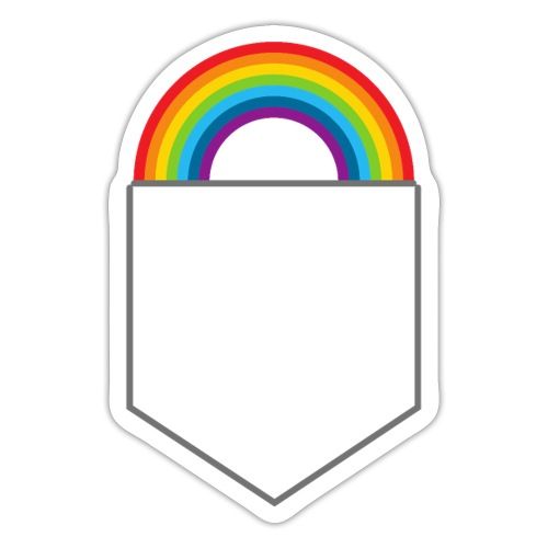 Lomme regnbue - Sticker