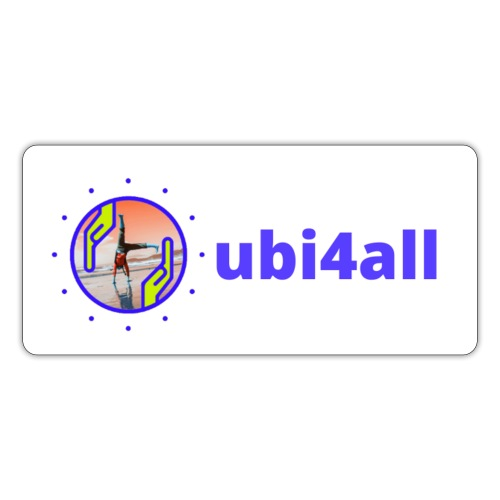 ubi4all horizontal blue - Sticker
