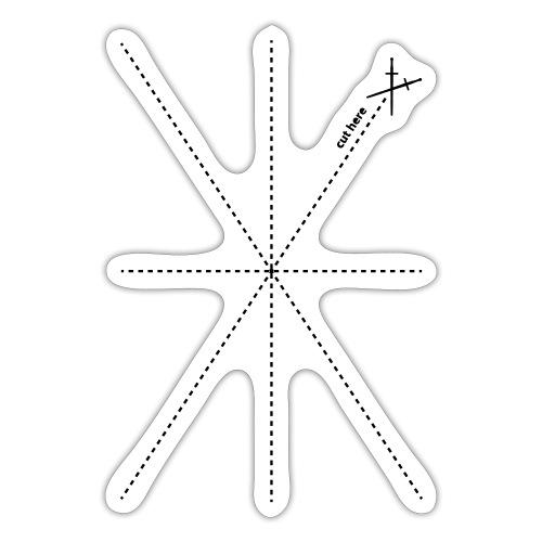 Schnittlinien - Sticker