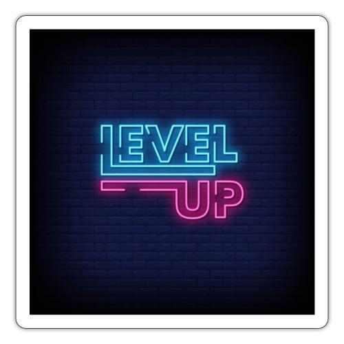 level up neon signboard 118419 1291 - Sticker