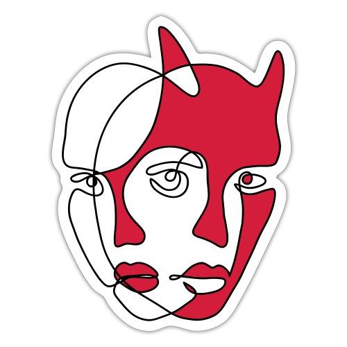 Två ansikten - Klistermärke