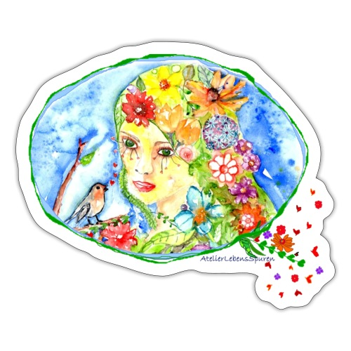 BlumenMädchen - Sticker