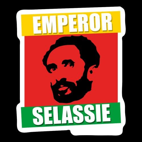 EMPORER SELASSIE red gold green - Sticker