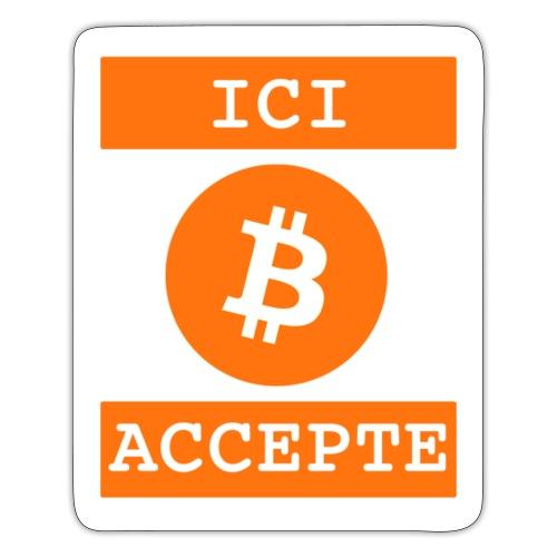 bTC accepté - Autocollant