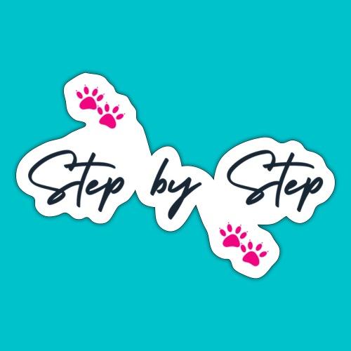 Step by Step (zampine rosa) - Adesivo