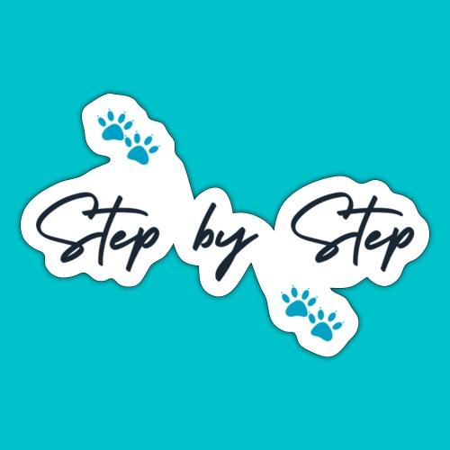 Step by Step (zampine azzurre) - Adesivo
