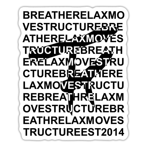 Breathe Relax Logo - Sticker