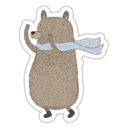 Fluffy Cuddle Bear by #OneCreativeArts - Sticker