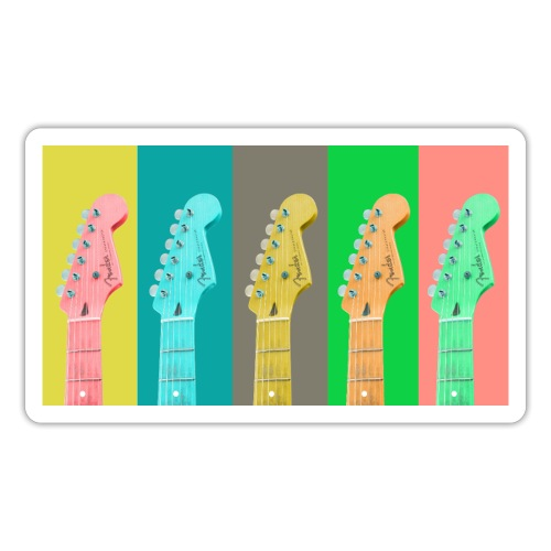 Colorful Guitar Gathering by #OneCreativeArts - Sticker