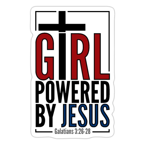 Girl powered by Jesus - Klistermärke