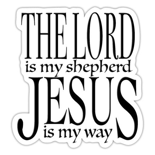 The Lord is my shepherd - Klistermärke