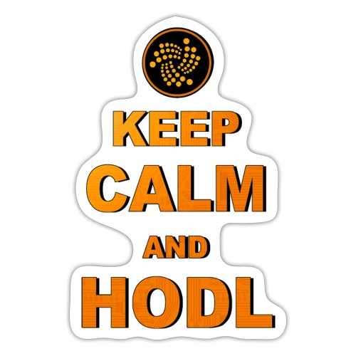 IOTA -keep calm and HODL - Sticker