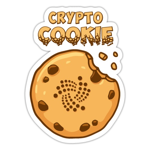 Crypto Cookie - IOTA - BTC, Bitcoin - Keks - Sticker