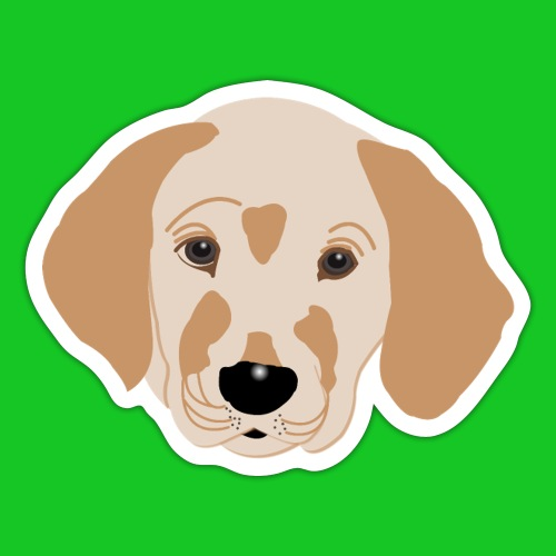 Golden Retriever, hond, hondje, puppie, dog, puppy - Sticker