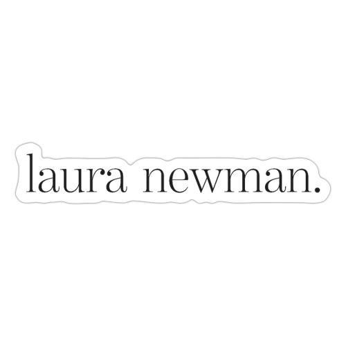laura newman. Logo | dark - Sticker