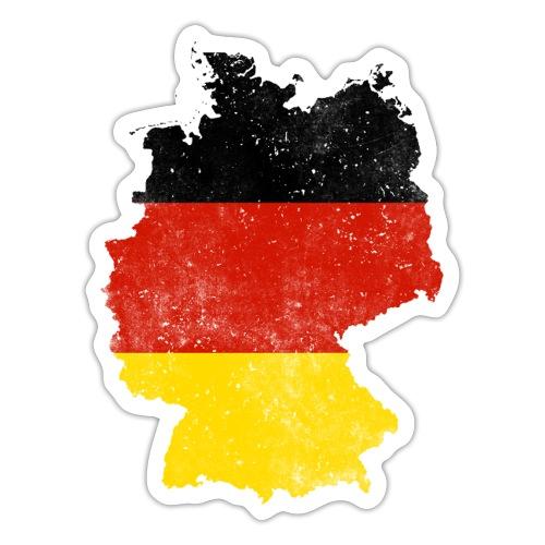 Deutschland Karte Flagge Geschenk - Sticker