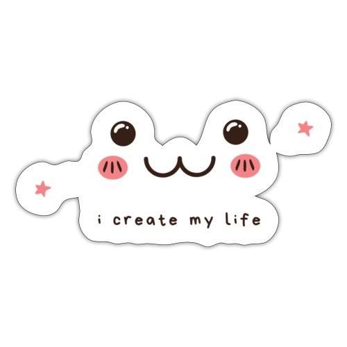Jag skapar mitt liv motiv - Klistermärke