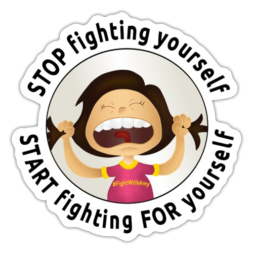 Amy's motto (black txt) - Sticker