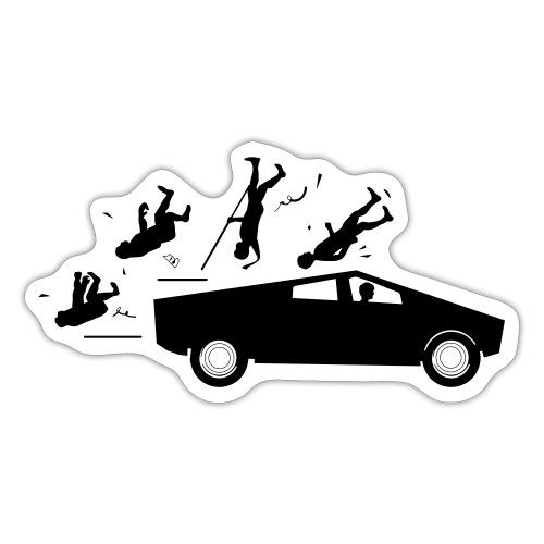 Evolution accident tesla Cybertruck par Elon Musk - Autocollant