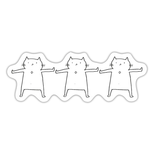 Performing Cat - Sticker