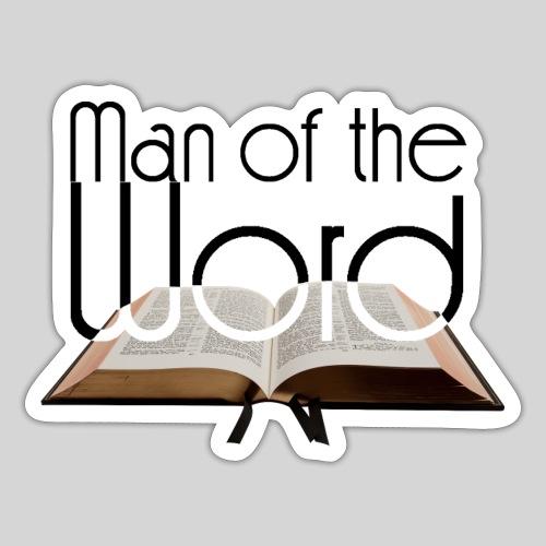 man of the Word - Mann des Wortes - der Bibel - Sticker