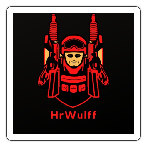 HrWulff Gaming Logo - Sticker
