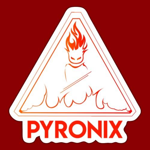 Pyronix rouge - Autocollant