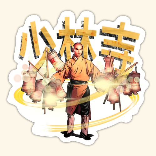 Gordon Liu som San Te - Warrior Monk - Sticker