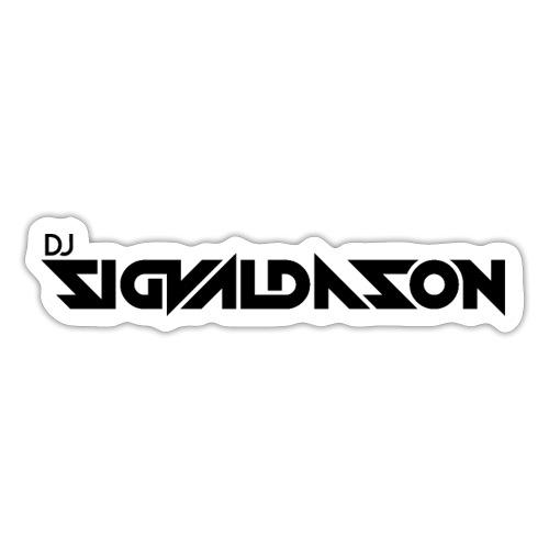 DJ logo sort - Sticker