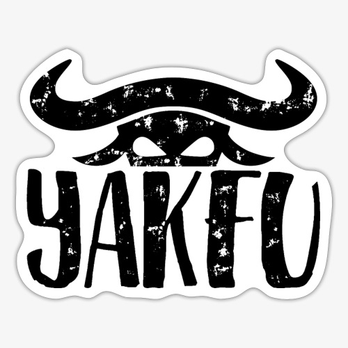 YakFu (Black) - Sticker