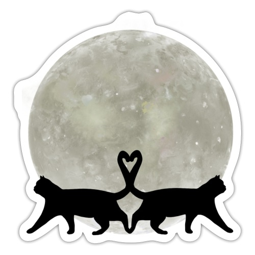 Cats in the moonlight - Sticker
