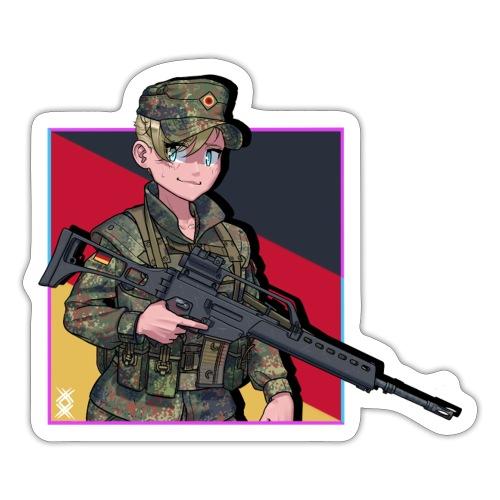 Bundeswehr anime girl sticker - Tarra
