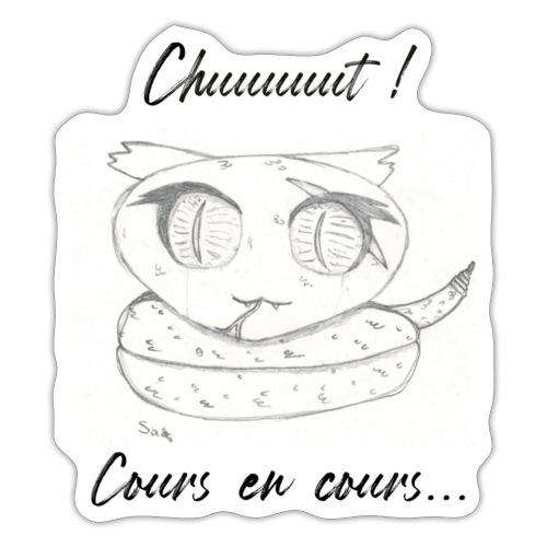 Serpent_chut - Autocollant