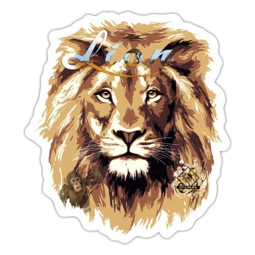 lion big scale 4x Gemälde3 - Sticker