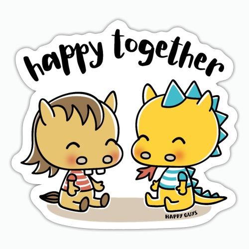 Happy Together - Pferd und Drache - Sticker