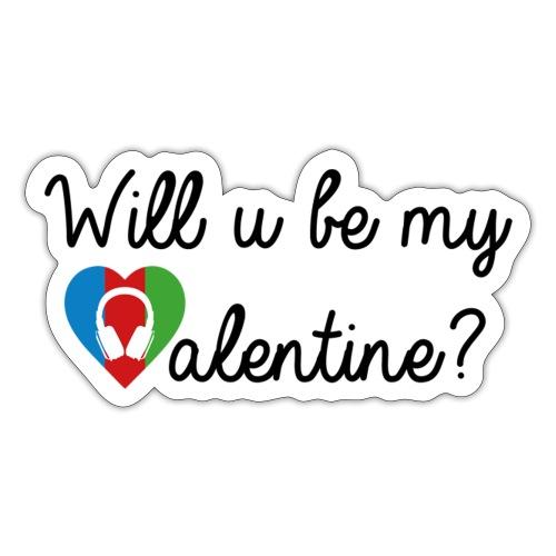 Valentine blk - Sticker