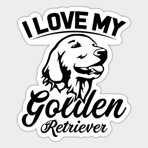 I LOVE MY GOLDEN RETRIEVER - Sticker