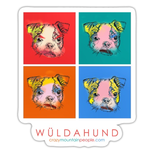 Wülda Hund Popart Puppy - Sticker