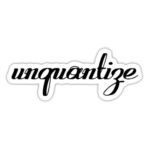 unquantize black logo - Sticker