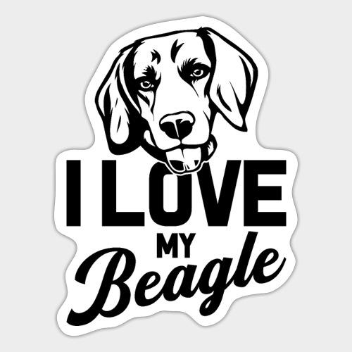 I LOVE MY BEAGLE - Sticker