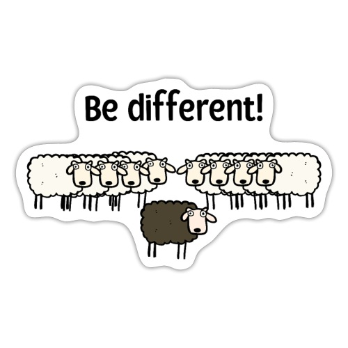 Be different - Sticker